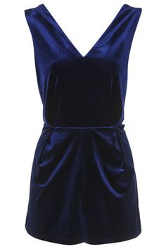 velvet 'playsuit' by topshop.