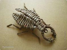 Мастер-класс Поделка изделие Плетение Жук-олень Бумага газетная Трубочки бумажные фото 1