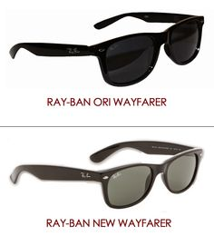 I personally feel that whatever model you choose of Ray Bans you will not be disappointed, but there is a difference between the Ray Ban New Wayfarer and the Ray Ban Original Wayfarer. The Ray Ban New Wayfarer are: Slightly smaller frame Softer eye shape Plastic Ideal for smaller features.... http://www.malayaoptical.com/