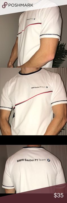 BMW Motorsports F1 Authentic T-Shirt in Large BMW Motorsports F1 Authentic T-Shirt in Large. Perfect condition, great fit and style, 100% cotton. BMW Motorsport Shirts Tees - Short Sleeve