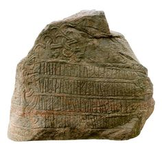 """The Jelling Stone - (Viking runestone) Denmark     """"Harald King had these stones made after Gorm his father and after Thyra his mother – that Harald who won all Denmark and Norway and made the Danes Christian"""""""