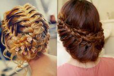 modèle coiffure mariage tresse cheveux mi long
