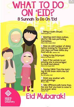 What to do on Eid ! Eid Ramadan, Mubarak Ramadan, Muslim Ramadan, Eid Eid, Islamic Online University, Eid Quotes, Qoutes, Eid Prayer, Ramadan Activities