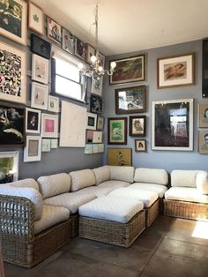 Gallery walls are personal: don't be afraid to mix up mediums, sizes, and frames.