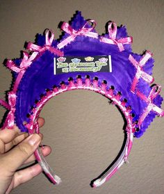 Mommy To Be Crown I Made for My BFA!! {Headband, Paper Plate, Ribbon, Stickers & Smelly Mrkers!!}