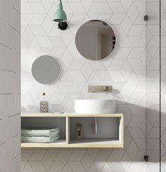 Die besonderen Muster der Dekorfliesen Daimana eignen sich für eine effektvolle und kreative Wandgestaltung durch die unzählige Verlegemöglichkeiten.