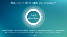 #Statistics on #Blood safety and availability