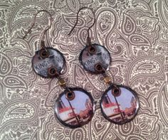 Downtown Charleston Copper Dangles- King St  handmade by jennamahshie, $18.00 http://www.copperandteal.com