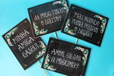 21 ideias de decoração chalkboard no casamento Reparou que cada vez mais a gente se depara com Chalkboard nos casamentos? São os famosos quadros negros