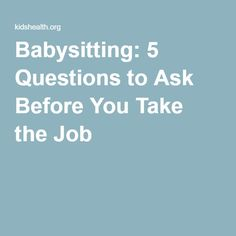 babysitting jobs needed