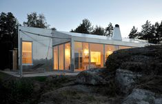 Aluminum Cabin   Small House Swoon 900 square feet home clad in aluminum to resist the long-term effects of salt water spray in Vestfold, Norway.
