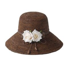 645c78583f0 Sweet style straw bucket hat with flower for girls summer beach ... Wide  Brim