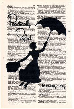 Repurposed Vintage Dictionary Art Featuring Mary Poppins **Buy 2 get 3rd FREE by SimpleeSaid on Etsy