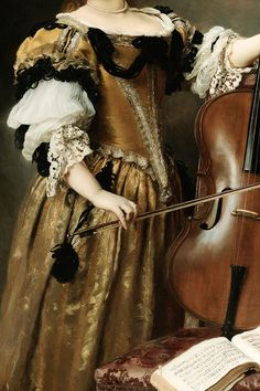 """themachiavellian: """" INCREDIBLE DRESSES IN ART (69/∞) The Cello Player by Gustave Jean Jacquet """" Gustave-Jean Jacquet (1846-1909) was one of the praised and prized 19th century French..."""