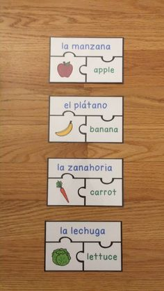Foods in Spanish Food Game Puzzles La Comida Activity Vocabulary Strategies, Vocabulary Activities, Food Vocabulary, Listening Activities, Spelling Activities, Spanish Lessons For Kids, Learning Spanish, Learning Languages Tips, Food Game
