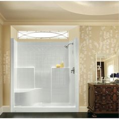 One Piece New Construction Shower Stall Beauty Shot | showers ...