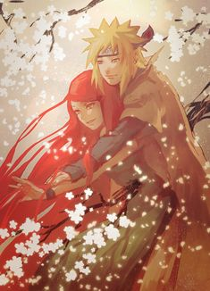 Anime: Naruto Personagens: Namikaze Minato e Uzumaki Kushina Naruto Shippuden Sasuke, Naruto And Kushina, Naruto Sasuke Sakura, Naruto Cute, Naruto Couples, Cute Anime Couples, Fotos Do Anime Naruto, Naruto Mobile, Otaku