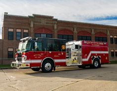 New City of Battle Creek (MI) Apparatus Built on Spartan Custom Chassis. #Rescue #Fire #FireDept #Apparatus #Pumper #Setcom new deliveries