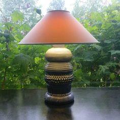 Pale blue pottery table lamp. https://www.etsy.com/listing/624101557/tall-pale-blue-pottery-table-lamp-the