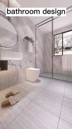 Washroom Design, Bathroom Design Layout, Bathroom Design Inspiration, Toilet Design, Bathroom Design Luxury, Modern Bathroom Design, Home Interior Design, Small Bathroom Designs, Grey Modern Bathrooms
