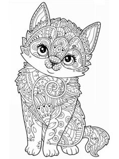 Coloring page Animals for teens and adults: