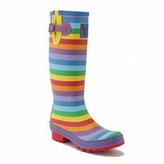 Rainbow Wellies