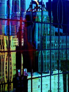 "Bold Analagous Color Scheme - ""Los Angeles Reflections"" photo by Christyn Koschmann via flickr"