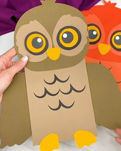 Halloween Crafts For Toddlers, Animal Crafts For Kids, Toddler Crafts, Preschool Crafts, Diy Crafts For Kids, Forest Animal Crafts, Paper Bag Crafts, Owl Crafts, Etsy Crafts