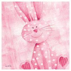 **Bouncing Bunny by Liv & Flo  Art Print 18 x 18 cm
