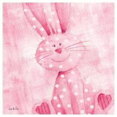 Bouncing Bunny by Liv & Flo Art Print. One of set of 4 decorative prints. £4.99   #animals