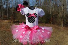Can't wait to get  Minnie Mouse Tutu Set  Newborn  Baby Infant by DivaSophiaBoutique, $37.00