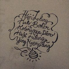 Always Laughing - hand lettering