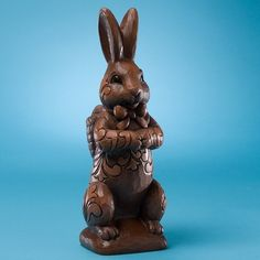 I purchased this Jim Shore bunny last year - it looks just like a delicious piece of chocolate - will love placing him his spot for this Easter!