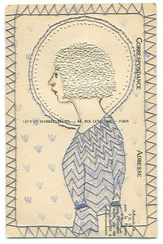 EMBROIDERY ON PAPER ♒ Enchanting Embroidery ♒ Abigail Halpin - pin-prick embroidery technique and stitch on paper! Paper Embroidery, Embroidery Applique, Embroidery Stitches, Embroidery Patterns, Portrait Embroidery, Doily Patterns, Dress Patterns, Textiles, Stitching On Paper