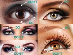 SMALL DEEP SET EYES MAKEUP TIPS - DO'S AND DON'TS!!! Read these DO's and DON'Ts for small #deepseteyes makeup and find out the right way and the wrong way to apply makeup for deep set eyes. These eye makeup tips for deep set eyes are sure to give you that va-va-voom look you desire!