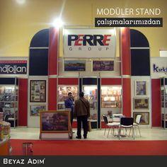 Toyzeria fuarında, Anotolia Perre için hazırladığımız 45 metrekarede Modüler stand çalışmamız.  #BeyazAdımMimarlık #Fuar #Stand #ModülerStand #Reklam