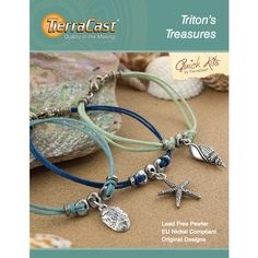 TierraCast Tritons Treasures Bracelet Kit-This pre-packaged kit is made by TierraCast and contains everything you need to make the bracelet as picture Jewelry Making Kits, Jewelry Kits, Pendant Jewelry, Beaded Jewelry, Leather Bracelet Tutorial, Nautical Bracelet, Beads Online, Summer Jewelry, Anklet