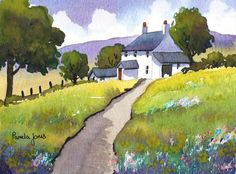 An original watercolour It is painted on Bockingford Watercolour paper and artist quality paints...   It is being sold unframed, mounted in
