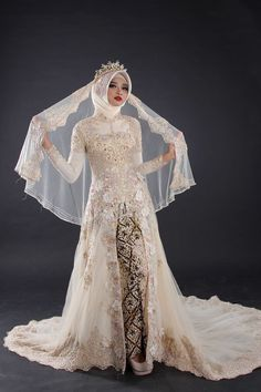 New Arrival by LAKSMI - Kebaya Muslimah & Islamic Wedding Service - 023 Kebaya Wedding, Muslimah Wedding Dress, Muslim Wedding Dresses, Hijab Bride, Muslim Brides, Wedding Gowns, Bridesmaid Dresses, Sixpack Women, Indonesian Wedding