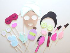 17pc Spa Day Photo Booth Props/Spa Day/Spa por ThePartyGirlStudio