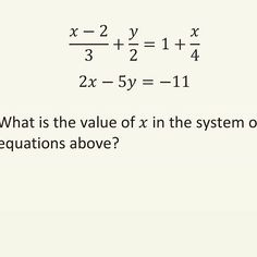 Systems of linear equations is also very common on the SAT. Expect to see 2 - 4 of them on the real exam. Sat Math, Systems Of Equations, Sats, Mathematics, Need To Know, Photo And Video, Awesome, Instagram, Math