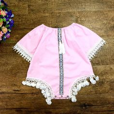 cb0a14a8418 😍NEW Summer Vintage Baby Girls Romper💝 ✅Size From 6 To 24 Months ✅