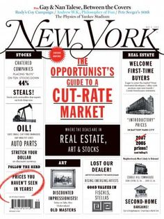 New York Magazine real estate issue. Nice use of color with black. Creates desired look of newspaper apartment listings.
