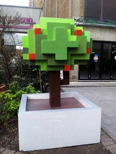 8 Bits Lane – Wreck it Ralph 8 Bits, S Brick, Brick Lane, Diy Crafts To Do, Diy Craft Projects, Minecraft, London Brick, Nerd Room, Graffiti Wall Art