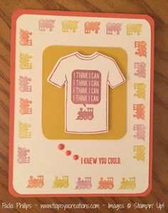 Stampin' Up! Occasions catalog Custom Tee & T-shirt Builder and coordinating SAB Designer Tee set - handmade by Paola Phillips