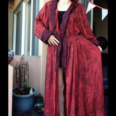 Handmade Theatre Wizard Cape Harry Potter Cosplay This robe came from a Theatre company and is handmade. Shakespeare. Witch. Gypsy nature godderss preistess. It has been used in productions and has some wear and a few snags. No smoke oder. Open size here. Could fit a tall man! Men's. Unisex. Dumbledore. Vintage Jackets & Coats Capes