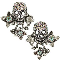 Kirks Folly Enchanted Forest Skull Earrings silvertone by Kirks Folly -- Awesome products selected by Anna Churchill