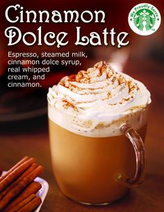 Cinnamon dolce latte= yum!