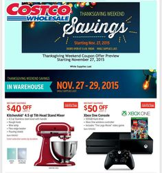 Costco Wholesale 2015 Black Friday Ad...check out the 26 pages of #BlackFriday deals.