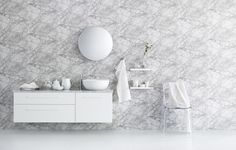 Our new bathroom series SiD gives thoughts elbow room. Turns ideas into reality. Hair And Makeup Artist, Bathroom Inspiration, Floating Shelves, Color Schemes, Stylists, Furniture, Bathrooms, Design, Photographers